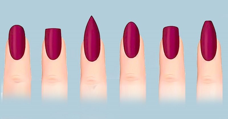 Маникюр придать красивую форму ногтям