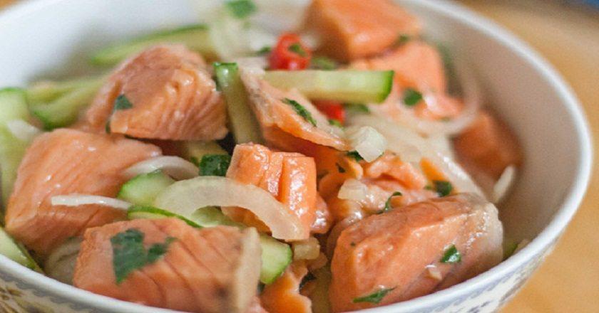Простой салат из макарон рецепт