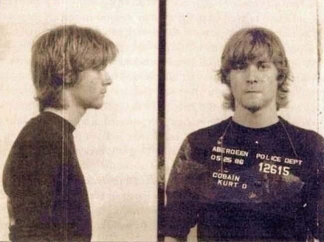 Курт Кобейн во время ареста.