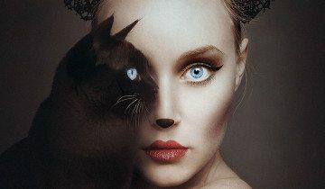 Фотограф создаёт удивительные портреты, на которых она и животные становятся одним целым