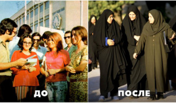 15 красноречивых фото из восточных стран до и после исламской революции.