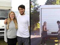 Молодая пара поселилась в старом фургоне, превратив его в однокомнатную квартиру!
