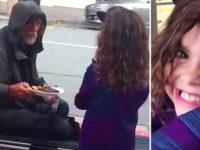 Девочка спросила у папы, можно ли отдать свою еду бездомному. Вот что произошло потом