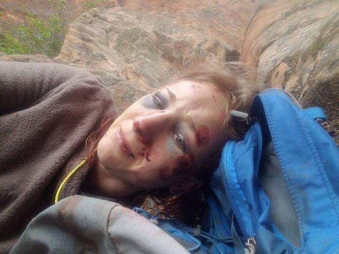 Девушка забралась на 250-метровую скалу. Все это похоже на страшный сон.