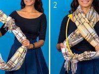 8 способов доболнить осенний образ с помощью шарфа. Французский узел просто Супер!