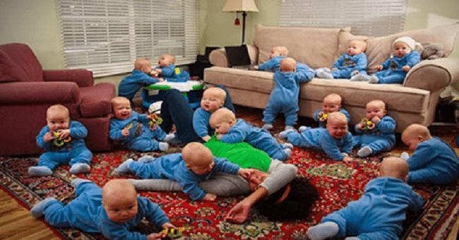 Американская мама подарила жизнь 17 младенцам одновременно