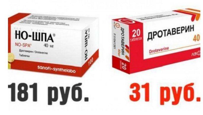 «Дешевые аналоги дорогих лекарств» (2016) или «Заплати за красивую упаковку»
