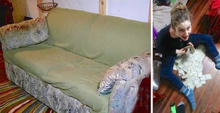 Студенты купили старый вонючий диван за копейки. Спустя месяц они нашли в нём настоящий клад…
