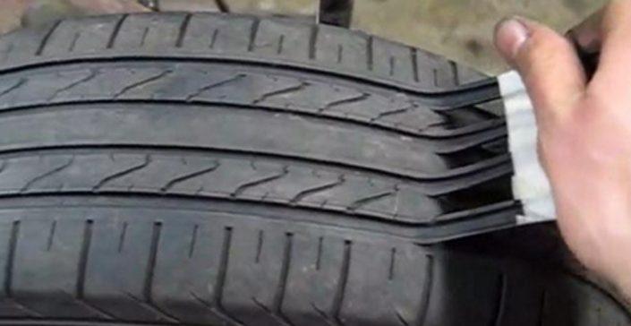 Смотрите, как обманывают нас продавцы шин, всего несколькими движениями делая из старой резины — новую!