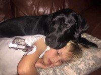 Собака будит ее посреди ночи. Увидев своего сына, она ужаснулась