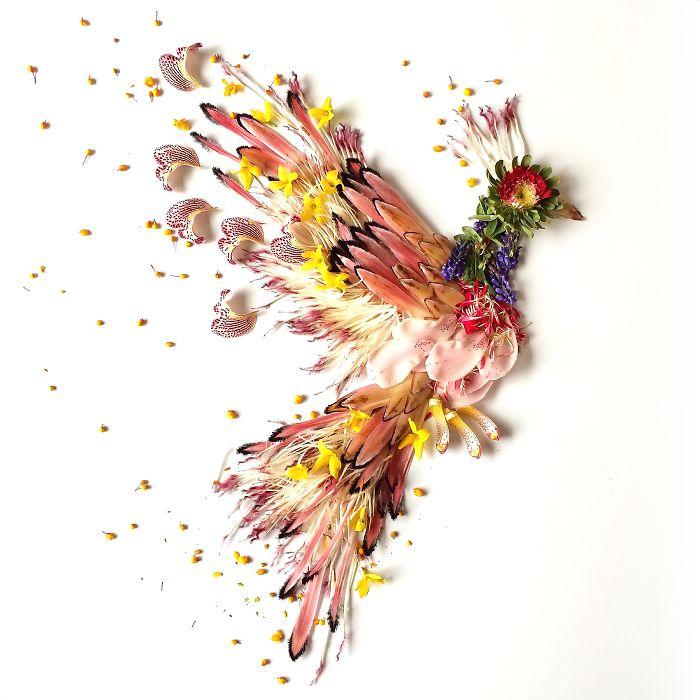Художница превращает цветы в живописные картины
