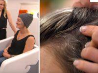 Когда женщина пришла в салон, она боялась снять шапку. Увидев ее волосы, парикмахер ужаснулась!