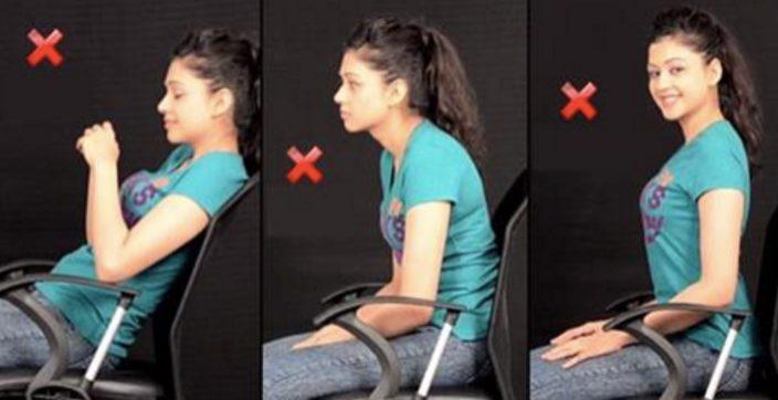Вот как на самом деле правильно сидеть на стуле