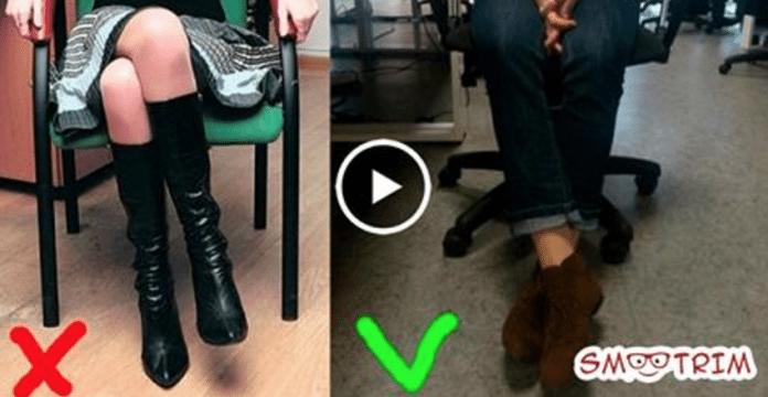 Осторожно — опасная поза! 5 причин почему нельзя скрещивать ноги, когда ты сидишь