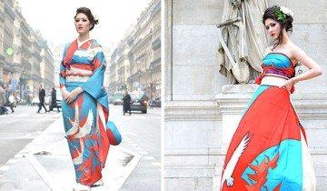 Невесты в Японии превращают свои традиционные кимоно в необыкновенные свадебные платья
