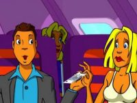 В самолете на соседних креслах блондинка и адвокат