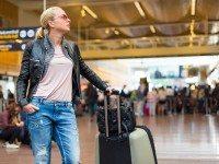Блондинка в самолете