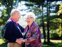 Муж и жена прожили вместе 60 лет