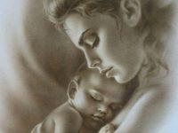 Одна легенда рассказывает о том, как очень бедная женщина с младенцем на руках