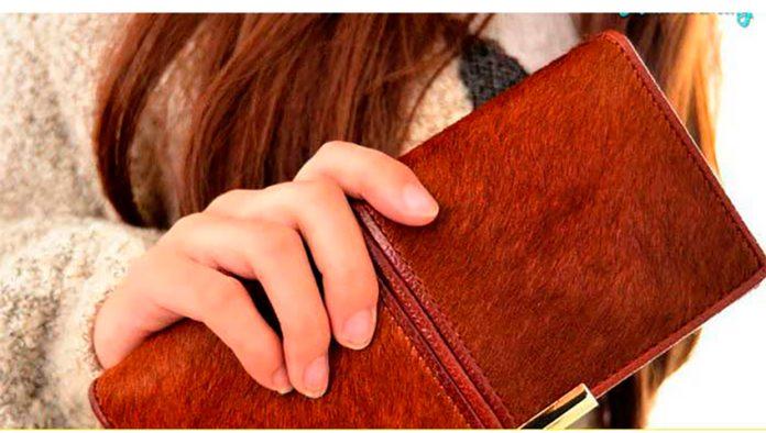 Она потеряла свой кошелек в магазине, но обнаружила это только на кассе